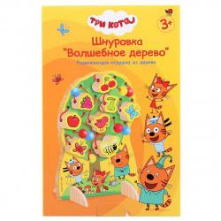 Развивающая игра Буратино Шнуровка дерево 1013-CATS/281554