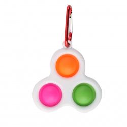Игрушка-антистресс POP-IT брелок симпл димпл 7*7см, пластик, силикон Tukzar AN-3N