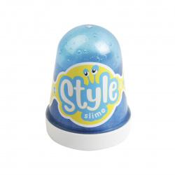 Слайм Lori STYLE SLIME Голубой с ароматом тутти-фрутти 130гр Сл-016