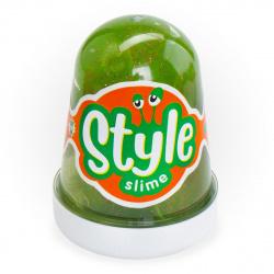 Слайм Lori STYLE SLIME Зеленый с ароматом яблока 130гр Сл-019
