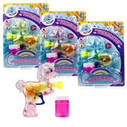Мыльные пузыри с игрушкой 50мл Пистолет Мы-шарики! в виде единорога 1toy Т17252