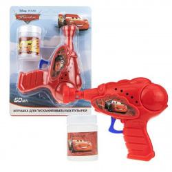 Мыльные пузыри с игрушкой 50мл Пистолет Тачки 1toy Т17469