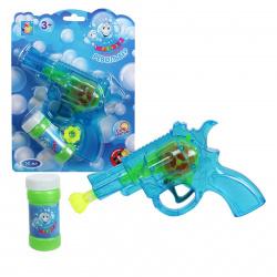 Мыльные пузыри с игрушкой Мы-шарики 50мл, пистолет для пускания мыльных пузырей 1toy Т58740