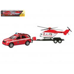Машина GERMANY ALLROAD с вертолётом, пожарная охрана 1:36 33997/50976
