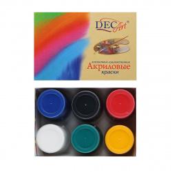 Краска акриловая 6 цветов, 40мл, банка Экспоприбор 24-6.40-50