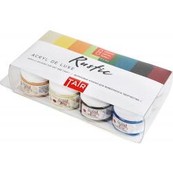 Краска акриловая художественная 8 цветов, 20мл, банка, пластиковая коробка ТАИР 110303003