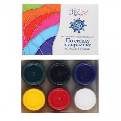 Краска акриловая декоративная 6 цветов, 20мл, банка Экспоприбор 29-6.20-50
