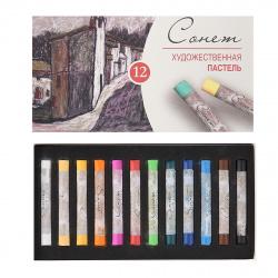 Пастель сухая художественная 12 цветов Невская палитра Сонет картонная коробка 7141223