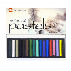 Пастель сухая художественная 16 цветов Невская палитра Времена года Зима картонная коробка 4607044800397