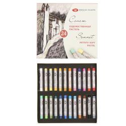 Пастель сухая художественная 24 цвета Невская палитра Сонет картонная коробка 7141224