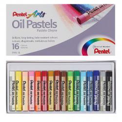 Пастель масляная художественная 16 цветов Pentel картонная коробка PHN4-16/PHN-16U1