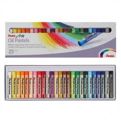 Пастель масляная художественная 25 цветов Pentel картонная коробка PHN4-25/PHN-25U