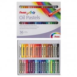 Пастель масляная художественная 36 цветов Pentel картонная коробка PHN4-36/PHN-36U