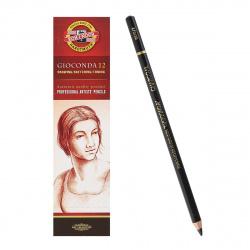 Набор карандашей 12шт KOH-I-NOOR Gioconda l-175мм d-4.2мм 8810/2/881002001KS уголь средняя твердость черный