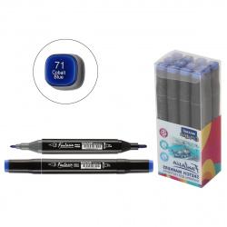 Маркер для скетчинга двусторонний 3-6,2мм Mazari Fantasia cobalt blue M-5012-71