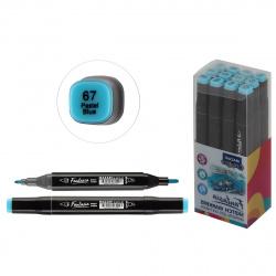 Маркер для скетчинга двусторонний 3-6,2мм Mazari Fantasia pastel blue M-5012-67