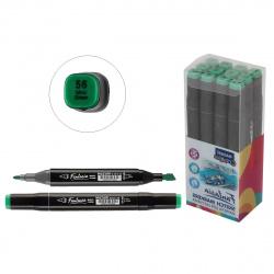 Маркер для скетчинга двусторонний 3-6,2мм Mazari Fantasia mint green M-5012- 56