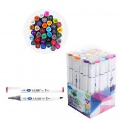Набор маркеров для скетчинга 36цв двусторонние 1-7мм Basir МС-5189-36