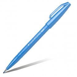 Фломастер-кисть Pentel Brush Sign Pen SES15C-S голубой