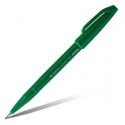 Фломастер-кисть Pentel Brush Sign Pen SES15C-D зеленый
