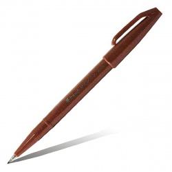 Фломастер-кисть Pentel Brush Sign Pen SES15C-E коричневый