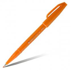 Фломастер-кисть Pentel Brush Sign Pen SES15C-F оранжевый