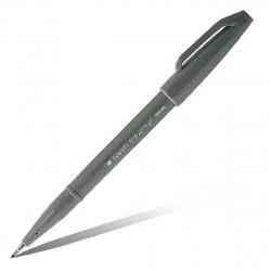 Фломастер-кисть Pentel Brush Sign Pen SES15C-N серый