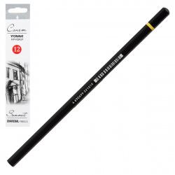 Угольный карандаш 12шт Сонет Невская палитра 1281338 средняя мягкость