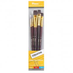 Набор кистей 5шт (Синтетика жесткая №1,5,6,8,10) Creative Pinax 699995 ассорти