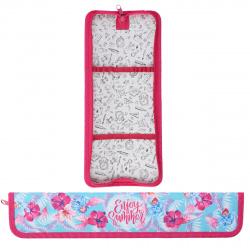 Пенал для кистей ткань картон 34*7*3 Розовые цветы Оникс ПКК 08-20/62564