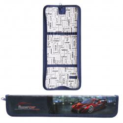 Пенал для кистей ламинированный картон 34*7*3 Super car Оникс ПКК 08-5 52482 красный