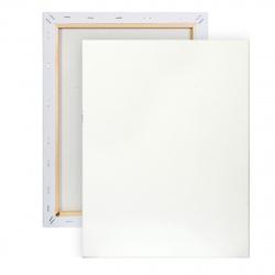 Холст на подрамнике, прямоугольная, 40*50см, 100% хлопок, 380г/кв.м., мелкое зерно Pinax 20.4050