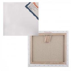Холст на подрамнике, квадратная, 50*50см, 100% хлопок, 380г/кв.м., мелкое зерно Pinax 20.5050