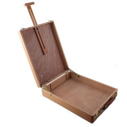 Ящик художника 27,5*38*10,5(67)см, дерево, пенал для кистей и красок КОКОС 210144