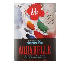 Папка для акварели А4, 7л, бумага для акварели 200 г/кв.м., в папке Kroyter 05411
