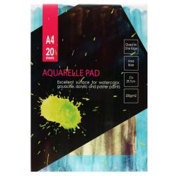 Альбом для акварели А4, 20л, бумага для акварели 200 г/кв.м., мелованный картон, да, склейка Kroyter 05664