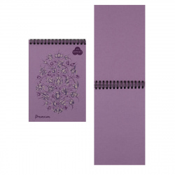 Блокнот для пастели А5 (140*200) 30л 160г/м2 дв спир Лилия Холдинг Premium Lavanda БРr/Lv темно розовый
