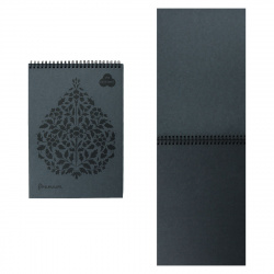 Блокнот для пастели А4 (210*297) 30л 160г/м2 дв спир Лилия Холдинг Premium БРr4/GH серый