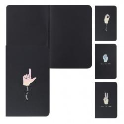 Блокнот для эскизов/скетчбук А5 (180*250) 24л 110г/м2 обл мягк карт фольг КОКОС Symbol 207637 черный