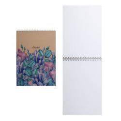 Блокнот для эскизов/скетчбук А4 (210*290) 40л 120г/м2 обл крафт карт выб лак дв спир жест подлож Listoff Кристаллы и розы СПСЛ44023