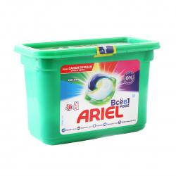 Гель автомат Ариель в растворимых капсулах 18*23,8г Color ассорти