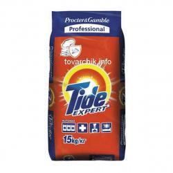 Порошок Tide автомат, для белого белья, полиэтиленовый пакет, 15кг Эксперт 81697627