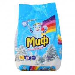 Порошок Миф автомат, для цветного белья, полиэтиленовый пакет, 2кг Color 81684206