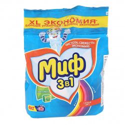 Порошок Миф автомат, для цветного белья, полиэтиленовый пакет, 4кг Color 81684207