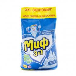 Порошок Миф автомат, для всех типов белья, полиэтиленовый пакет, 6кг 81728216