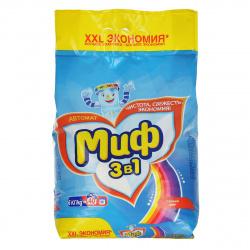 Порошок Миф автомат, для цветного белья, полиэтиленовый пакет, 6кг Color 81684210