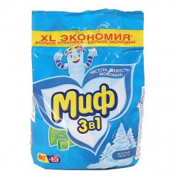 Порошок Миф автомат, для всех типов белья, полиэтиленовый пакет, 4кг 81728237