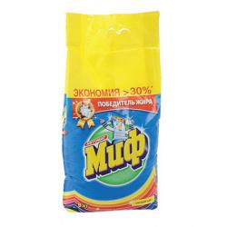 Порошок Миф автомат, для цветного белья, полиэтиленовый пакет, 9кг Color 81684209