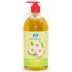 Жидкое мыло туалетное, цветочная, антибактериальный эффект, флакон с помповым дозатором, 1литр Ромашка Русалочка 433991