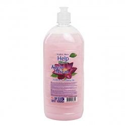 Жидкое мыло туалетное, цветочная, антибактериальный эффект, флакон с дозатором флип-топ, 1литр Лотос и Пачули Help 5-0365